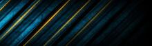Dark Blue Striped Background W...