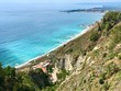 Taormina. Panoramic view of the Mediterranean Sea. Sicily, Italy