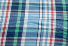 Full Frame Shot Of Colorful Check Patterned Textile