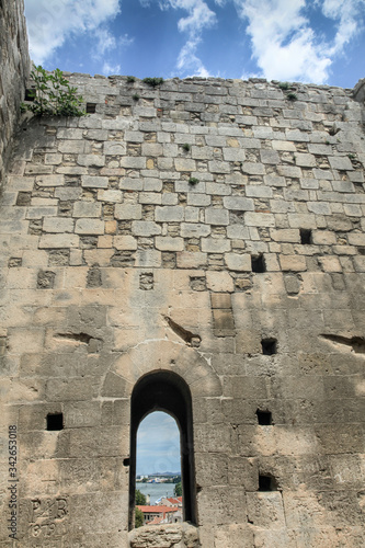 Amphitheatre in Arles, inner wall, France Canvas Print