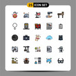 25 Creative Icons Modern Signs and Symbols of male, school, flag, education, cleaning