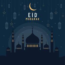 Abstract Religious Eid Mubarak...