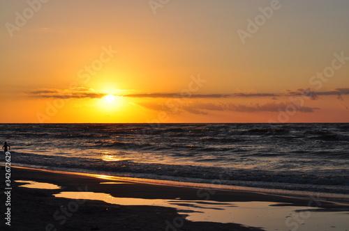 Fototapeta Zachód słońca Dębki obraz