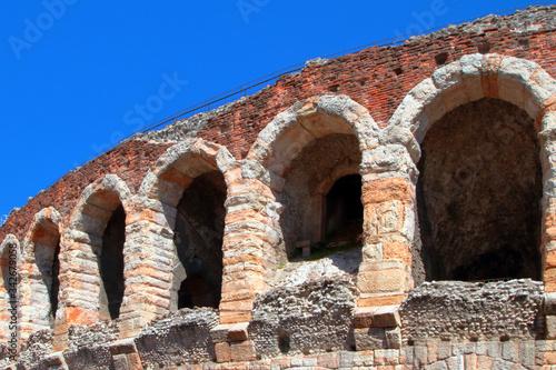arena roman theater in verona in italy Canvas Print