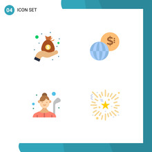 Set Of 4 Modern UI Icons Symbo...