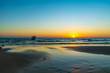 Koh Ta Kiev, Cambodia- Feb, 2020 : a boat in the sea with the sunset background at Koh Ta Kiev, Cambodia
