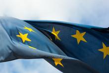 Close-up Of European Union Flag Against Sky