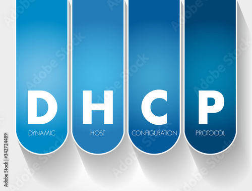Photo DHCP - Dynamic Host Configuration Protocol acronym, technology concept backgroun