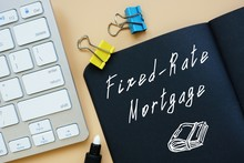 Fixed-Rate Mortgage Sign On The Page.