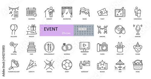 Photo Event vector icons