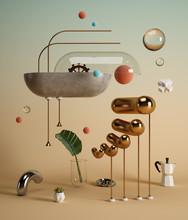 Abstract Surrealism Shrimp Sha...