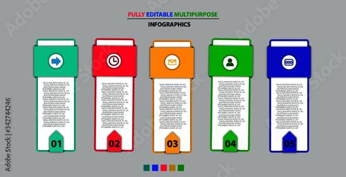 Fotografie, Tablou multipurpose vector infographic template design,