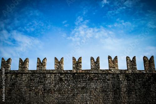 Merlatura - Rocca di Angera Fototapeta