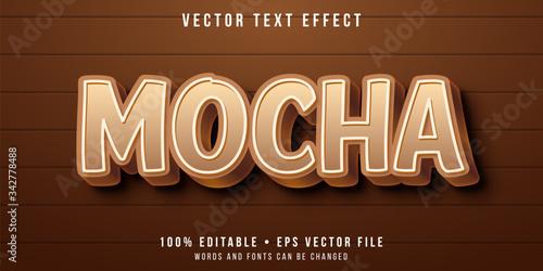 Fototapeta Editable text effect - mocha flavor style