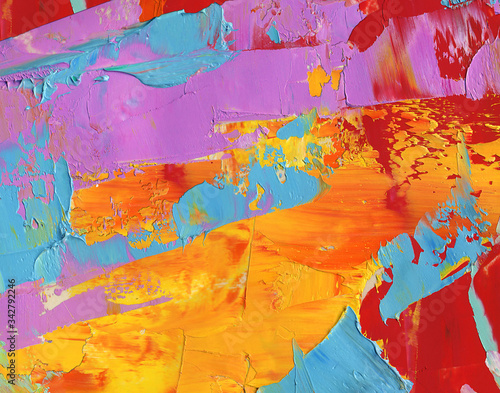Fototapety, obrazy: Colorful  texture of oil paint as hot  abstract background, wallpaper, pattern, art print, etc. High quality details.