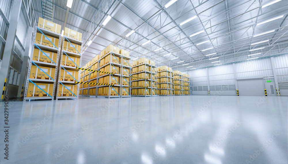 Fototapeta 3d warehouse building