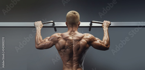 Photo Pull Ups workout in gym