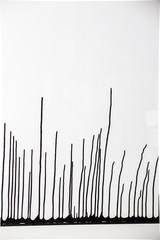 Zacieki farby, ciekawe czarno białe tło, abstrakcyjne.
