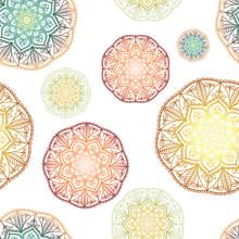 Ethnic Mandala In Color Gradie...