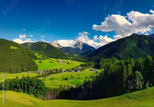 Photo landscapes of the val fiscalina, in trentino alto adige during the month of july
