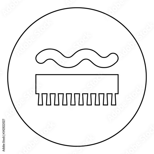 Abrasion resistant for broom brushing Designation on the wallpaper symbol icon i Wallpaper Mural