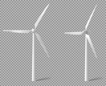 Vector Realistic White Wind Tu...