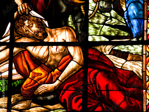 Fotomural church, glass, window, stained, stained glass, religion, christ, religious, cath
