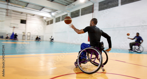 basketball athletes in wheelchairs