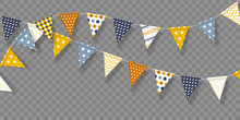 Vector Bunting Flags With Geom...