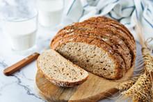 Wholegrain Rye Bread With Glas...