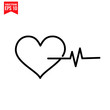 heart love, health medical, icon symbol Flat vector illustration for graphic and web design.