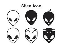 Alien Icon Symbol Flat Vector ...