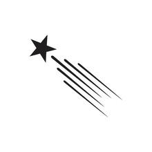Falling Star Icon Symbol Flat ...