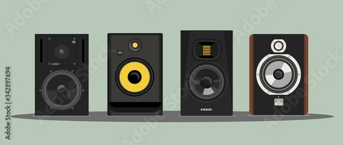 Fotografía Realistic vector of the legendary studio monitors