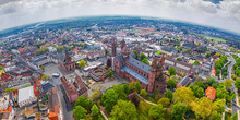 Aerial View Of Worms City And ...
