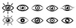 Set eye icons, vision sign – stock vector