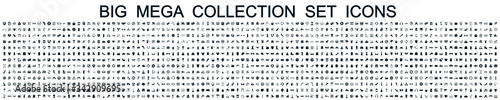 Fototapeta Big mega collection set icons: business, shopping, device, technology, medical,