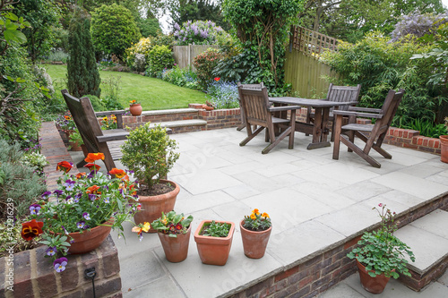 Fotomural Hard landscaping, new luxury patio and garden, UK