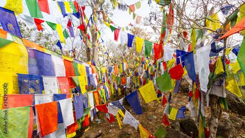 Camp de réfugiés tibétains en Inde Fototapet