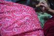 Leinwanddruck Bild - Surakarta Indonesia January 17 2020 : Beautiful Batik Motif of Surakarta Indonesia is a traditional culture from Indonesia with bokeh background, Batik Tulis
