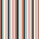 Vertical stripes pattern. Simple vector seamless texture with thin straight lines. Modern abstract geometric striped background. Orange, pink, navy blue, mint green and beige color. Stylish design - 342941252