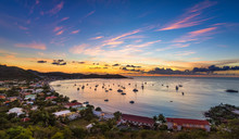 Coucher De Soleil Sur Grand Case à Saint-Martin
