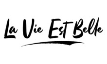 La Vie Est Belle Calligraphy Handwritten Lettering For Sale Banners, Flyers, Brochures And  Graphic Design Templates