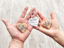 Cropped Hands Holding Heart Sh...