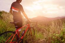 Bicyclist Man Ridding Bike Goi...