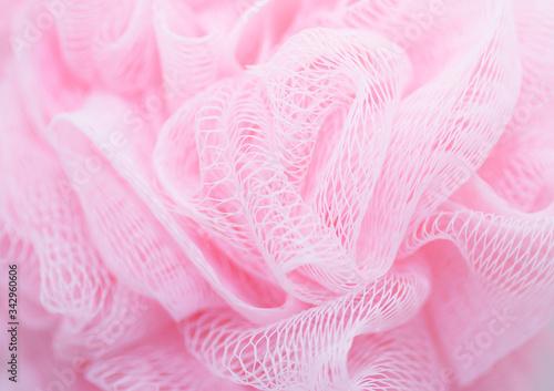 Detail Shot Of Pink Loofah