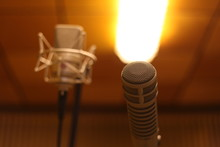 Close-up Of Microphones In Rec...