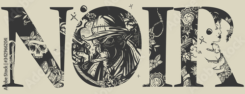 Fotografie, Obraz Noir slogan