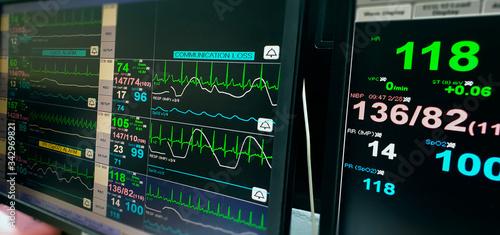Heart rate monitor measuring vital signs. Fototapet