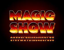 Vector Bright Poster Magic Sho...